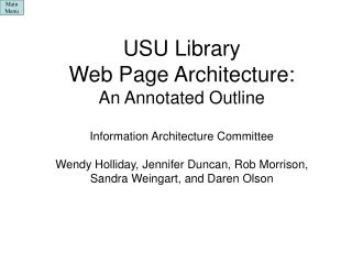 0.0 USU Library Home Page