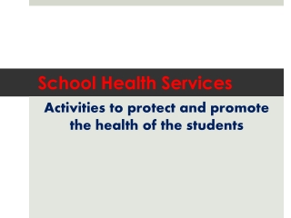 Coordinated  School Health Program