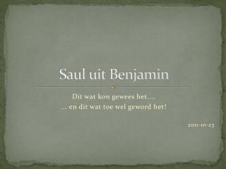 Saul uit Benjamin