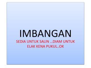 IMBANGAN