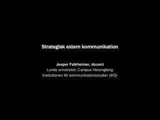 Strategisk extern kommunikation