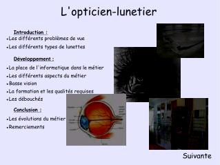 L'opticien-lunetier