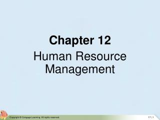 Chapter 12  Human Resource Management
