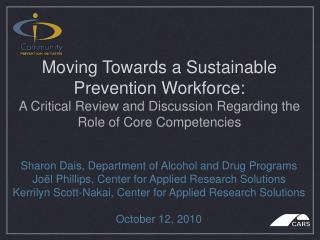Sharon Dais, Department of Alcohol and Drug Programs