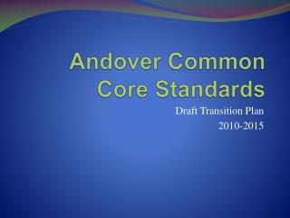 Andover Common Core Standards