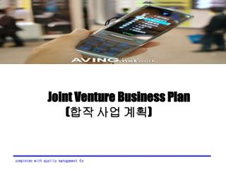 Joint Venture Business Plan                     (합작 사업 계획)