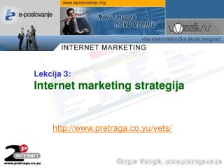 Lekcija  3 : Internet marketing strategija