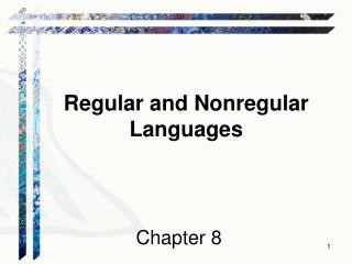 Regular and Nonregular Languages