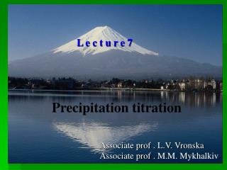 Precipitation titration