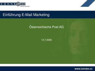 Einführung E-Mail Marketing