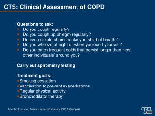 CTS: Clinical Assessment of COPD