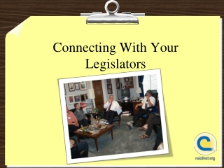 How to make an effective congressional visit
