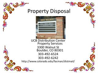 Property Disposal