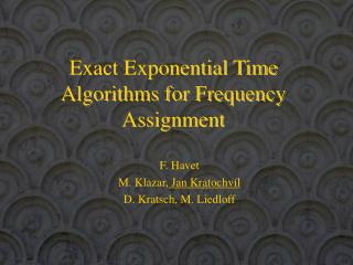 Exact Exponential Time Algorithms for Frequency Assignment