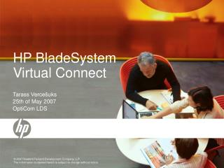 HP BladeSystem Virtual Connect