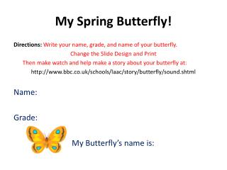 My Spring Butterfly!