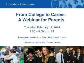 From College to Career: A Webinar for Parents