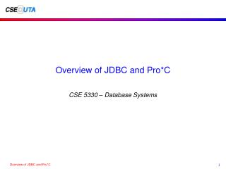 Overview of JDBC and Pro*C