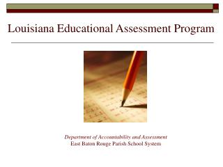 Louisiana Educational Assessment Program