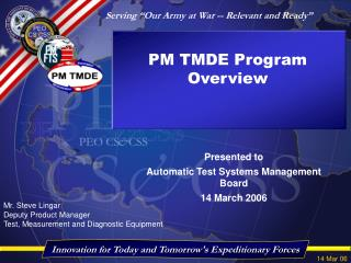 PM TMDE Program Overview