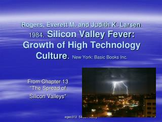 "From Chapter 13 ""The Spread of Silicon Valleys"""