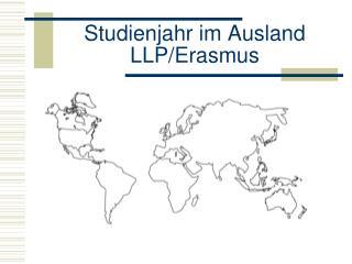 Studienjahr im Ausland LLP/Erasmus