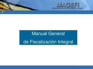 Manual General  de Fiscalización Integral