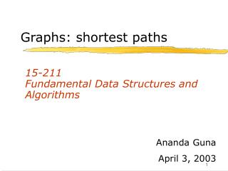 Graphs: shortest paths