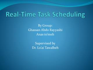 Real-Time Task Scheduling