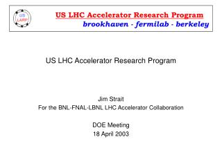 US LHC Accelerator Research Program