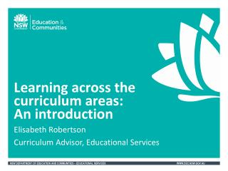 Learning across the  curriculum areas :  An  introduction