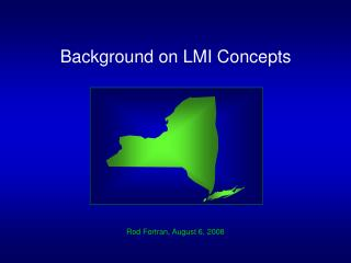 Background on LMI Concepts
