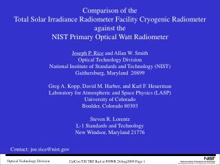 Comparison of the Total Solar Irradiance Radiometer Facility Cryogenic Radiometer against the