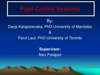 Pupil Control Systems