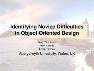 Identifying Novice Difficulties in Object Oriented Design