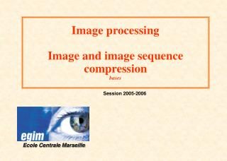 Image processing Image and image sequence compression bases
