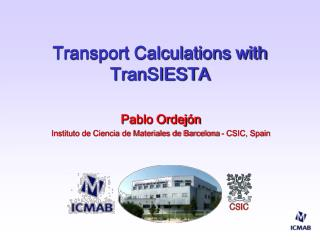 Transport Calculations with TranSIESTA