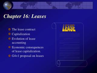 Chapter 16: Leases