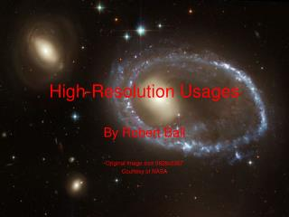 High-Resolution Usages
