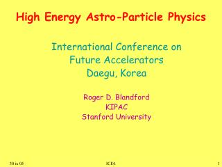 High Energy Astro-Particle Physics
