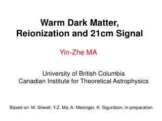 Warm Dark Matter, Reionization and 21cm Signal
