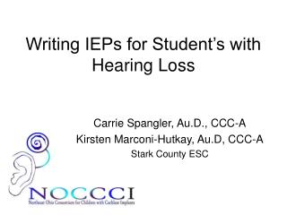 Writing IEPs for Student's with Hearing Loss