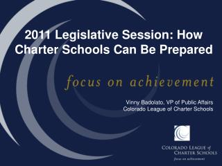 2011 Legislative Session: How Charter Schools Can Be Prepared