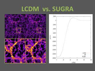 LCDM vs. SUGRA
