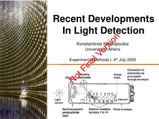 Recent Developments  In Light Detection
