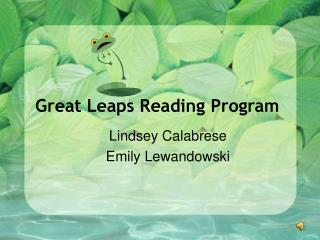Great Leaps Reading Program