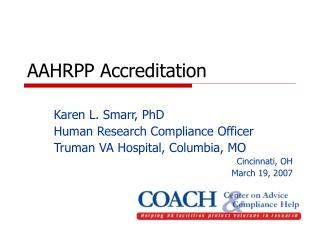 AAHRPP Accreditation