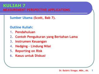 KULIAH 7 MEASUREMENT PERSPECTIVE APPLICATIONS