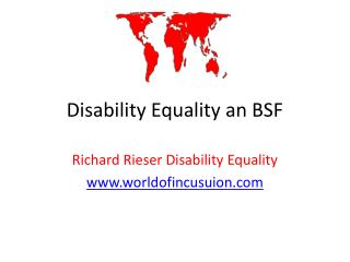 Disability Equality an BSF