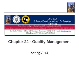 Chapter 24 - Quality Management